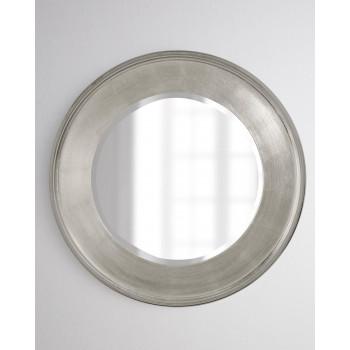 Круглое зеркало в серебряной раме Рассел
