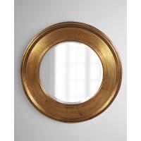 Круглое зеркало в золотой раме Рассел