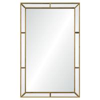 Зеркало настенное в золотой раме Эвин