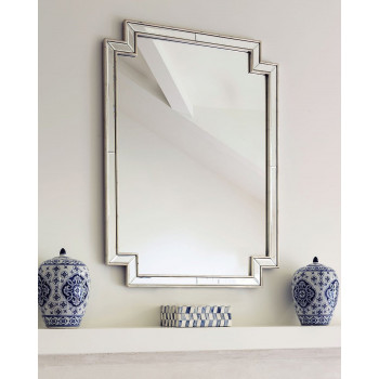 Зеркало настенное в серебряной раме Холтон silver