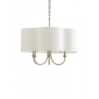 Потолочная люстра в американском стиле с 6-ю лампами Шеффилд Серебро nickel