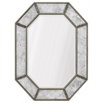 """Дизайнерское интерьерное зеркало в раме """"Ньюпорт"""" Серебро"""