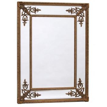 Прямоугольное дизайнерское зеркало в раме Оливер
