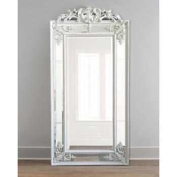 """Напольное большое зеркало в полный рост в зеркальной раме """"Пабло"""" Chailk White"""