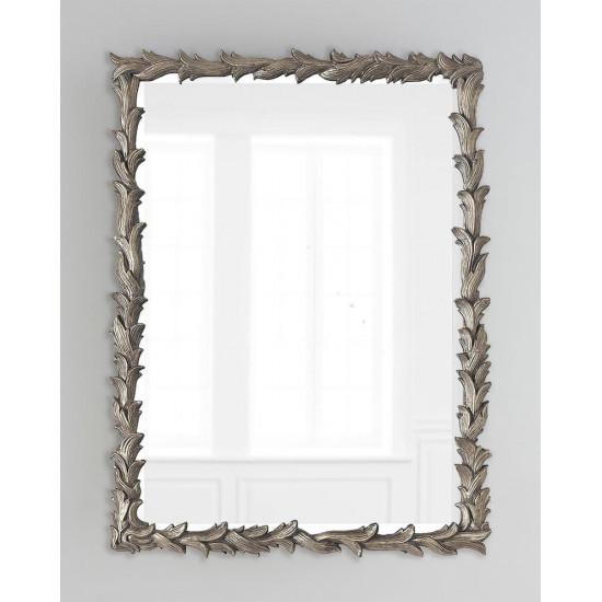 Зеркало настенное в раме Уолбэк Серебро в интернет-магазине ROSESTAR фото