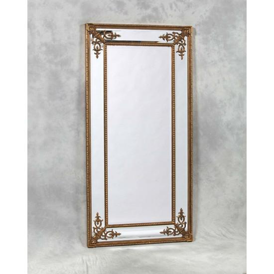 """Напольное большое зеркало в полный рост """"Венето"""" Золото в интернет-магазине ROSESTAR фото"""