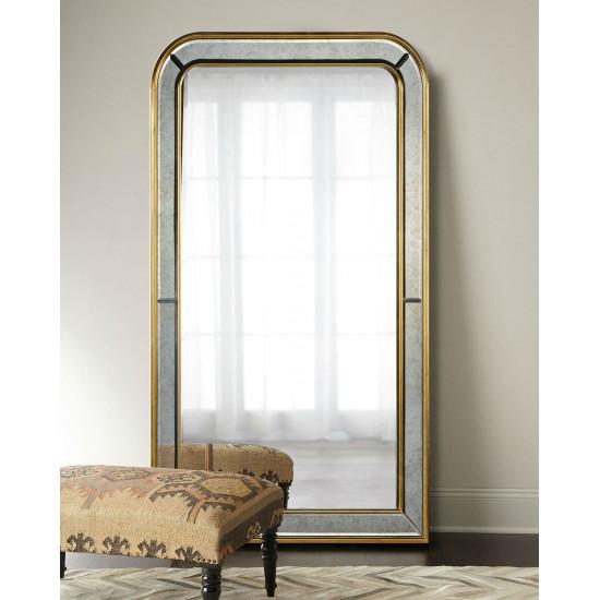 Большое напольное зеркало в полный рост в раме Вустер Золото в интернет-магазине ROSESTAR фото
