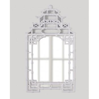 Зеркало в китайском стиле в белой раме Кантон