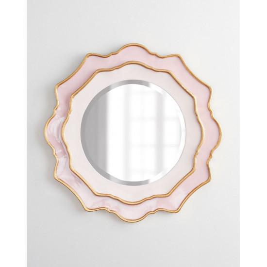 Зеркало круглое в розовой раме Дороти Pink в интернет-магазине ROSESTAR фото
