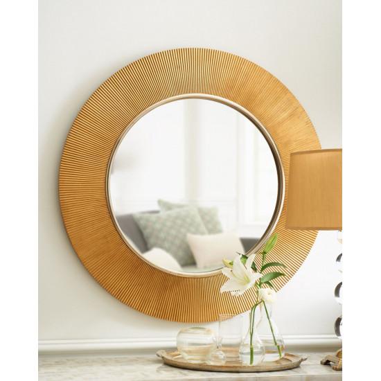 Зеркало круглое настенное в раме Арно