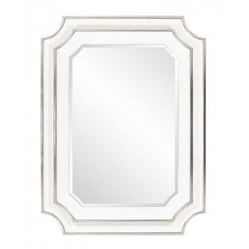Зеркало дизайнерское настенное в белой раме Кьяра White