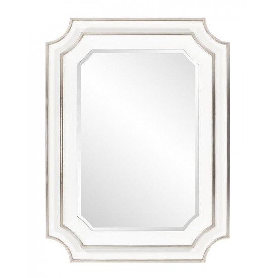 Зеркало дизайнерское настенное в белой раме Кьяра White в интернет-магазине ROSESTAR фото