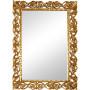 Зеркало настенное в красивой прямоугольной раме Бергамо Золото в интернет-магазине ROSESTAR фото 1