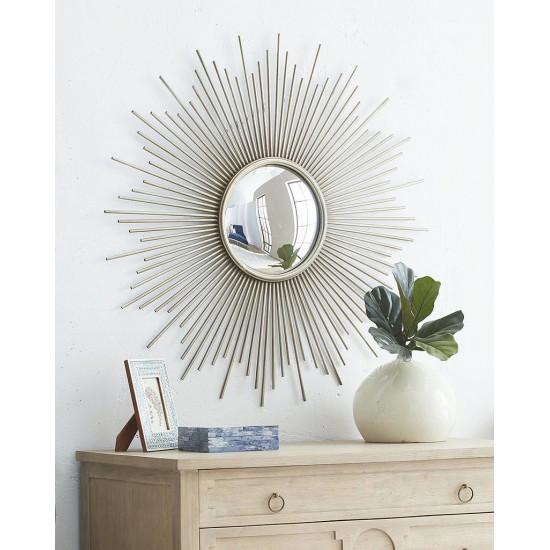 Круглое зеркало в виде солнца Брук Серебро в интернет-магазине ROSESTAR фото