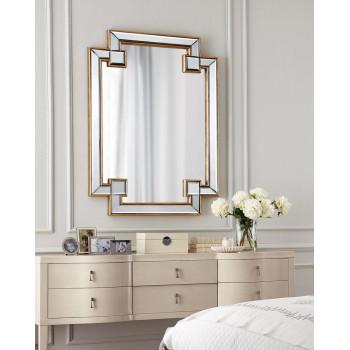Дизайнерское оригинальное зеркало настенное Честер Золото