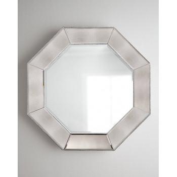 Настенное дизайнерское восьмиугольное зеркало в раме Кристи