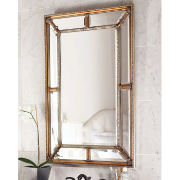 Зеркало настенное в раме Гарри Античное Золото