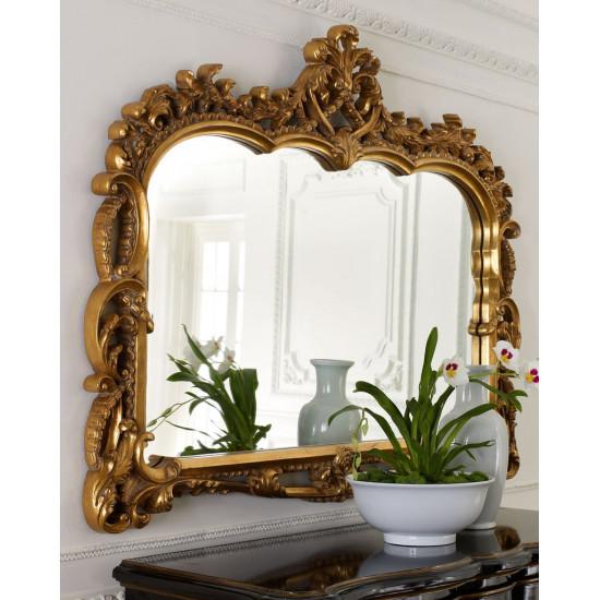Зеркало в золотой раме Жаклин Античное Золото в интернет-магазине ROSESTAR фото