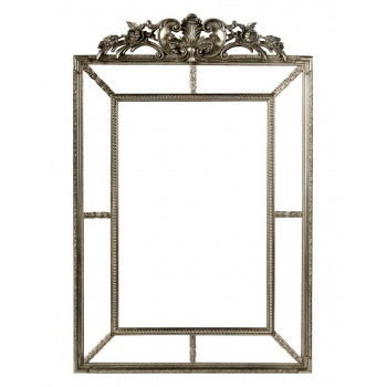 Зеркало настенное в раме Ланкастер Серебро