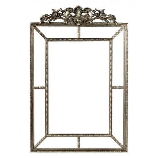 Зеркало настенное в раме Ланкастер Серебро в интернет-магазине ROSESTAR фото