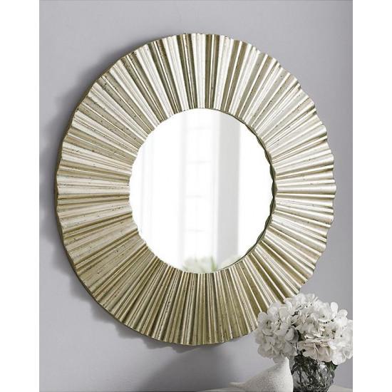 Зеркало круглое настенное в серебряной раме Летиция в интернет-магазине ROSESTAR фото