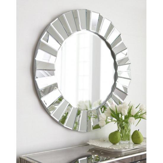 Зеркало круглое настенное в раме Матильда