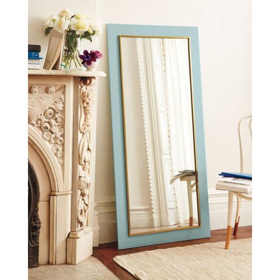 Напольное большое зеркало в бирюзовой раме в полный рост Пуатье в интернет-магазине ROSESTAR фото
