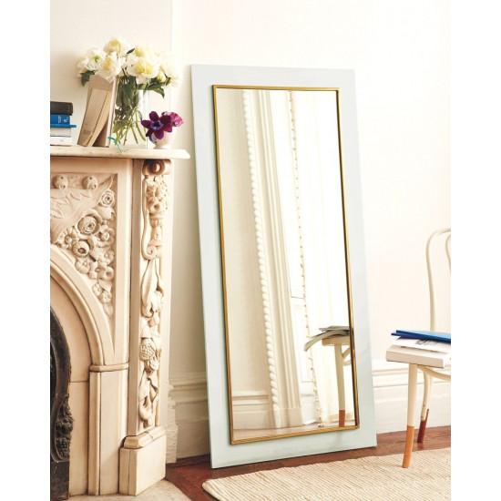 Напольное зеркало в белой раме в полный рост Пуатье в интернет-магазине ROSESTAR фото