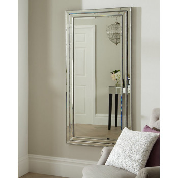 Дизайнерское стильное зеркало в зеркальной раме настенное Ар Деко