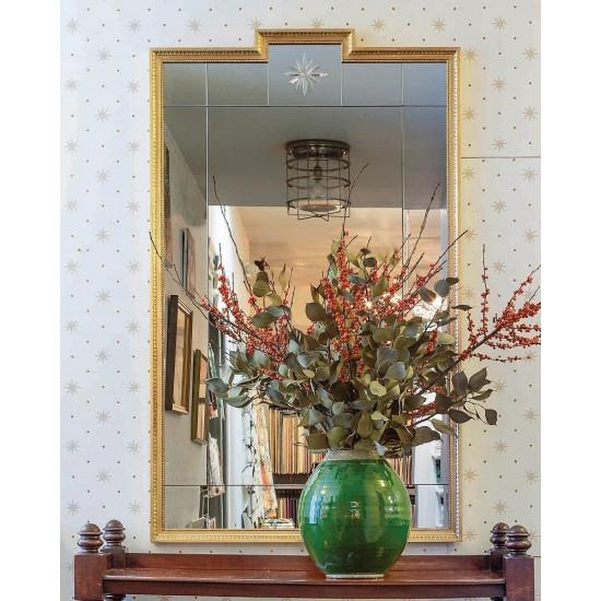 Дизайнерское красивое зеркало для интерьера в раме Комо Золото в интернет-магазине ROSESTAR фото