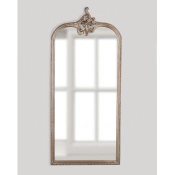 Напольное зеркало в полный рост в серебряной раме Кайли Silver
