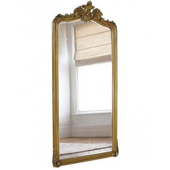 Напольное большое зеркало в раме Лоренцо Античное Золото
