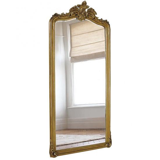 Напольное большое зеркало в раме Лоренцо Античное Золото в интернет-магазине ROSESTAR фото