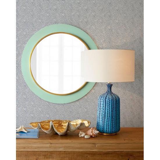 Зеркало настенное в круглой бирюзовой раме Минди в интернет-магазине ROSESTAR фото