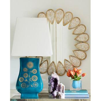 Зеркало-цветок круглое в раме Плимут