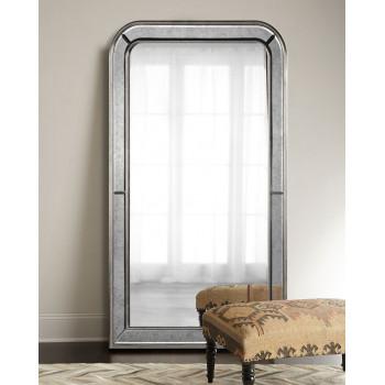Большое напольное зеркало в полный рост в раме Вустер Silver