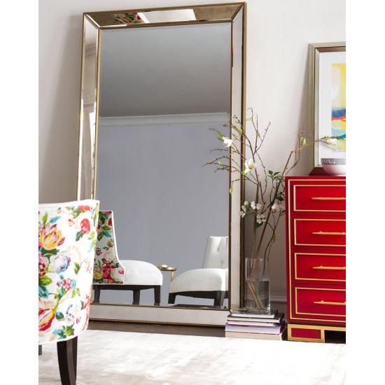 Зеркало напольное большое в полный рост в раме Уилшир Золото в интернет-магазине ROSESTAR фото