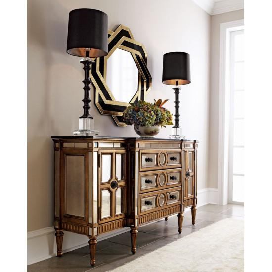 Интерьерное дизайнерское зеркало в фигурной раме Виндзор в интернет-магазине ROSESTAR фото