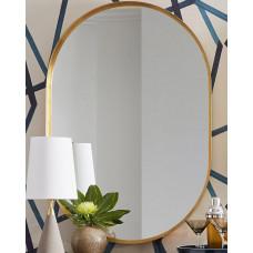Зеркало в металлической золотой раме Аманда