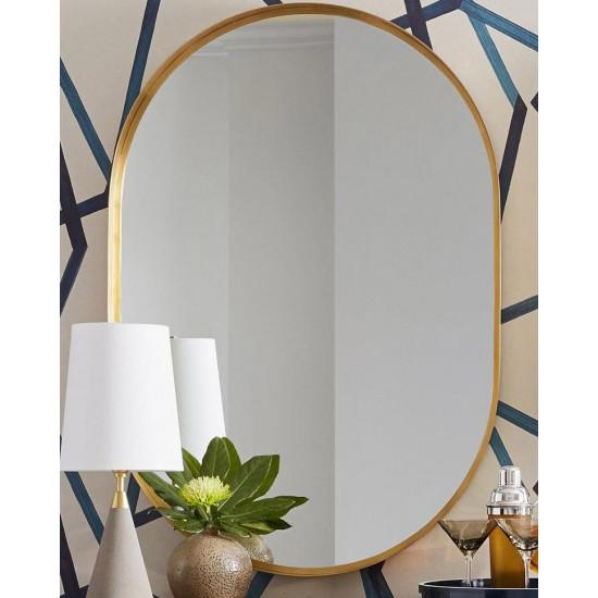 Зеркало в металлической золотой раме Аманда в интернет-магазине ROSESTAR фото