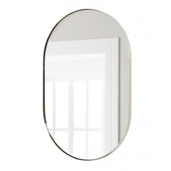 Зеркало в металлической серебряной раме Аманда