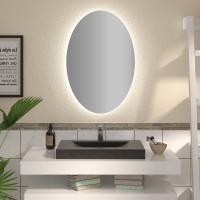 Овальное зеркало с подсветкой Афина