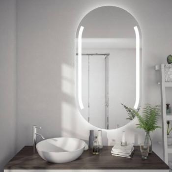 Овальное зеркало-капсула с подсветкой Лин
