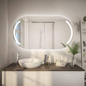 Овальное зеркало с подсветкой Портал Горизонтальное