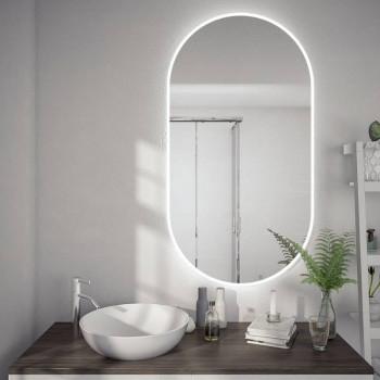 Овальное настенное зеркало с подсветкой Селла