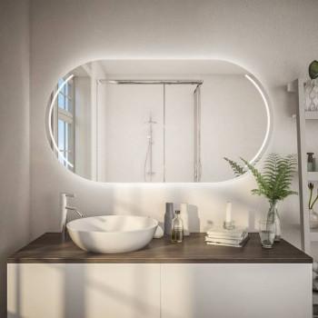 Овальное зеркало с подсветкой Софт Горизонтальное