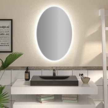 Овальное зеркало с подсветкой Тамин