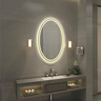 Овальное настенное зеркало со светодиодной LED-подсветкой Monterey