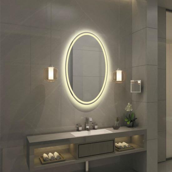 Овальное настенное зеркало со светодиодной LED-подсветкой Монтерей в интернет-магазине ROSESTAR фото