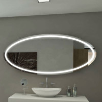Овальное настенное зеркало со светодиодной LED-подсветкой Токио
